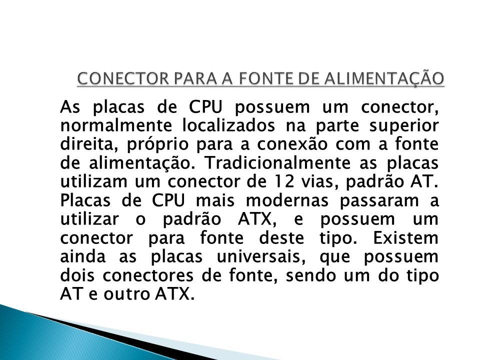 CONECTOR PARA A FONTE DE ALIMENTAÇÃO