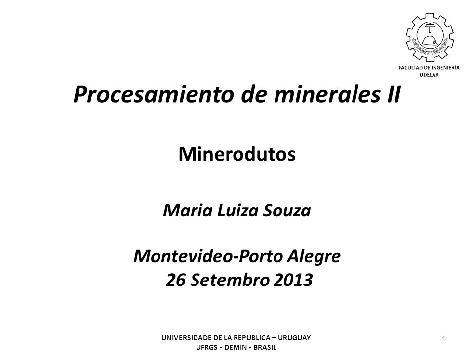 Procesamiento de minerales II Minerodutos