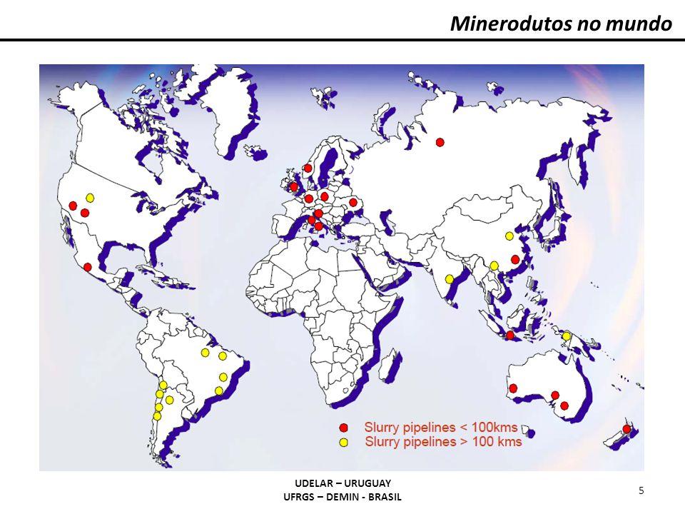 Minerodutos no mundo UDELAR – URUGUAY UFRGS – DEMIN - BRASIL