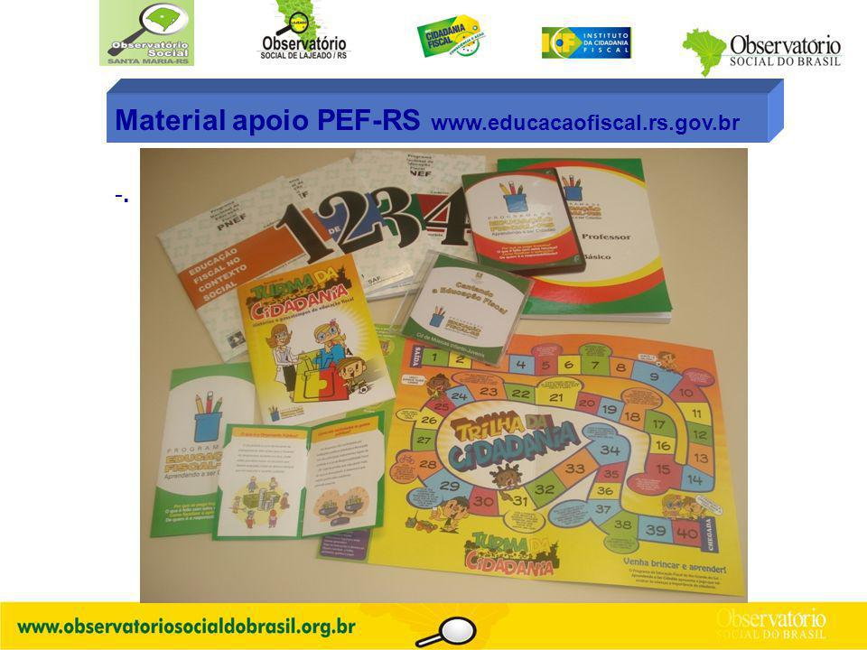 Material apoio PEF-RS www.educacaofiscal.rs.gov.br
