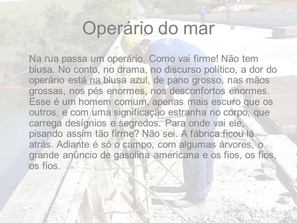 Operário do mar