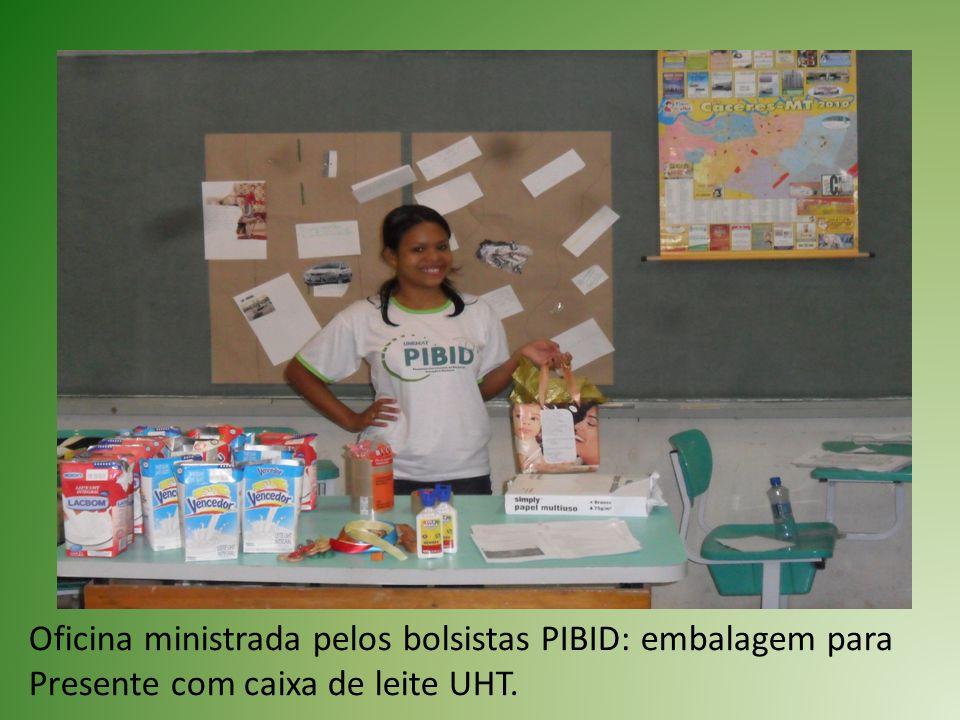 Oficina ministrada pelos bolsistas PIBID: embalagem para