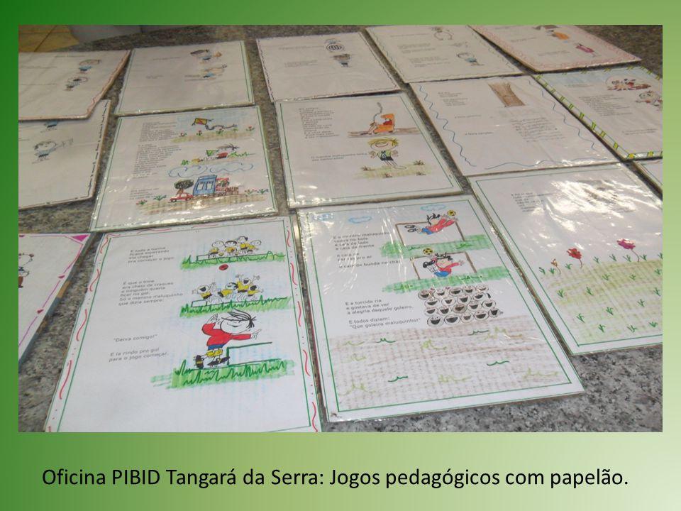 Oficina PIBID Tangará da Serra: Jogos pedagógicos com papelão.