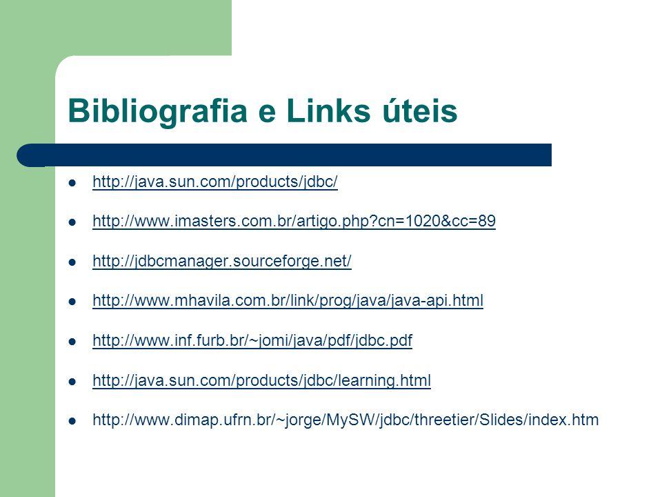 Bibliografia e Links úteis