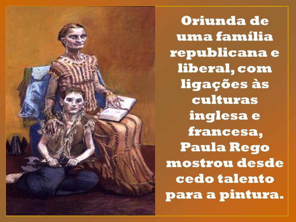 Oriunda de uma família republicana e liberal, com ligações às culturas inglesa e francesa, Paula Rego mostrou desde cedo talento para a pintura.
