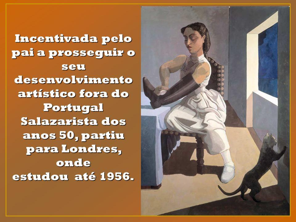 Incentivada pelo pai a prosseguir o seu desenvolvimento artístico fora do Portugal Salazarista dos anos 50, partiu para Londres, onde estudou até 1956.