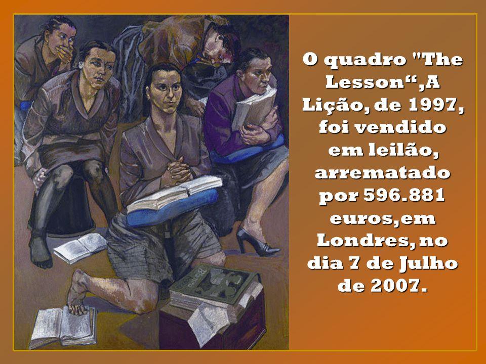 O quadro The Lesson ,A Lição, de 1997, foi vendido em leilão, arrematado por 596.881 euros,em Londres, no dia 7 de Julho de 2007.