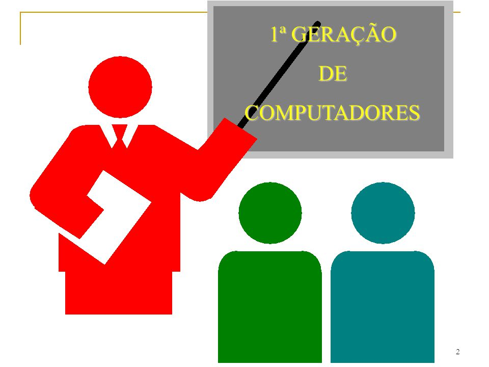 1ª GERAÇÃO DE COMPUTADORES