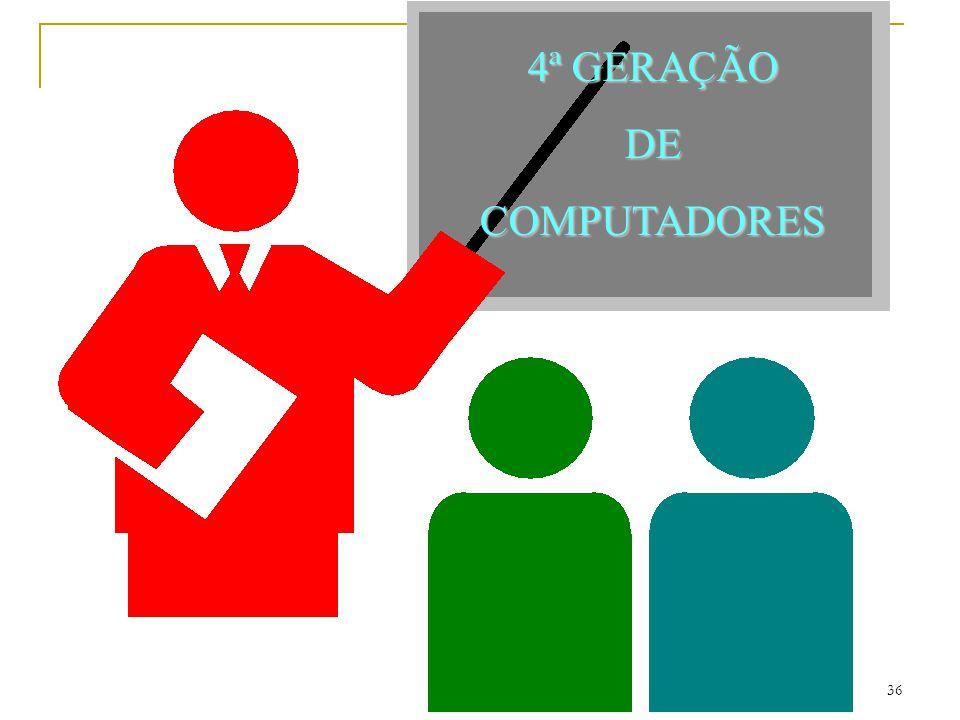 4ª GERAÇÃO DE COMPUTADORES