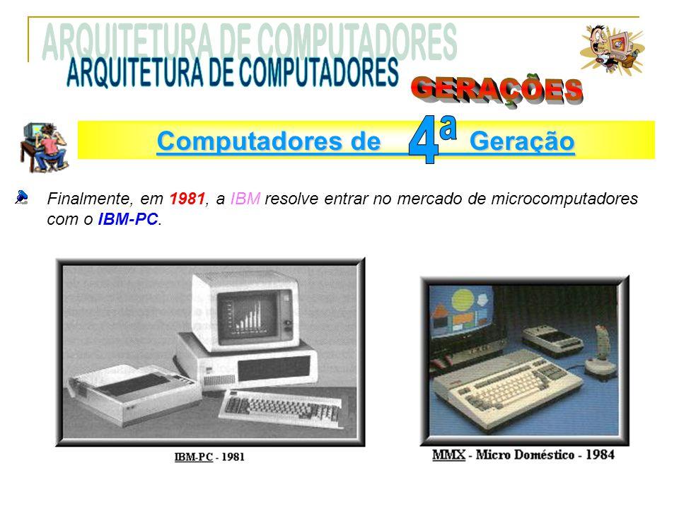 ARQUITETURA DE COMPUTADORES GERAÇÕES 4ª