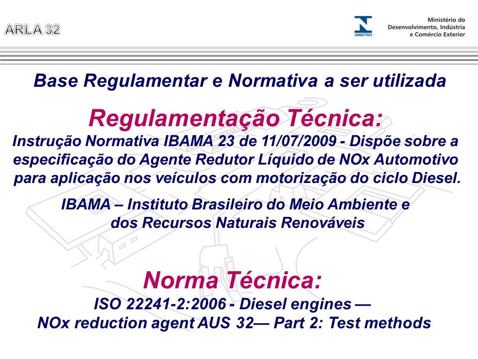 Regulamentação Técnica: Norma Técnica: