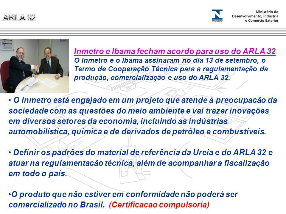 Inmetro e Ibama fecham acordo para uso do ARLA 32