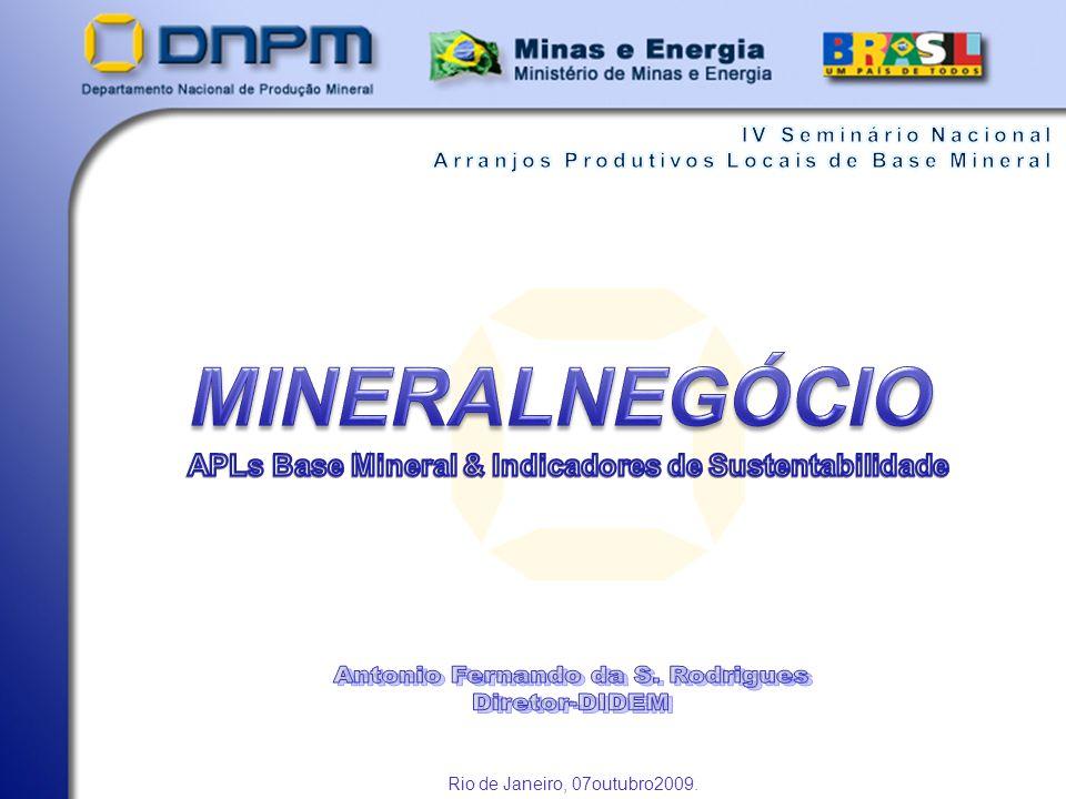 APLs Base Mineral & Indicadores de Sustentabilidade