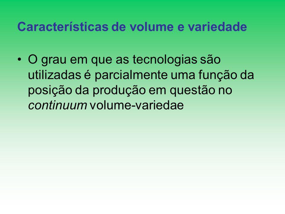 Características de volume e variedade