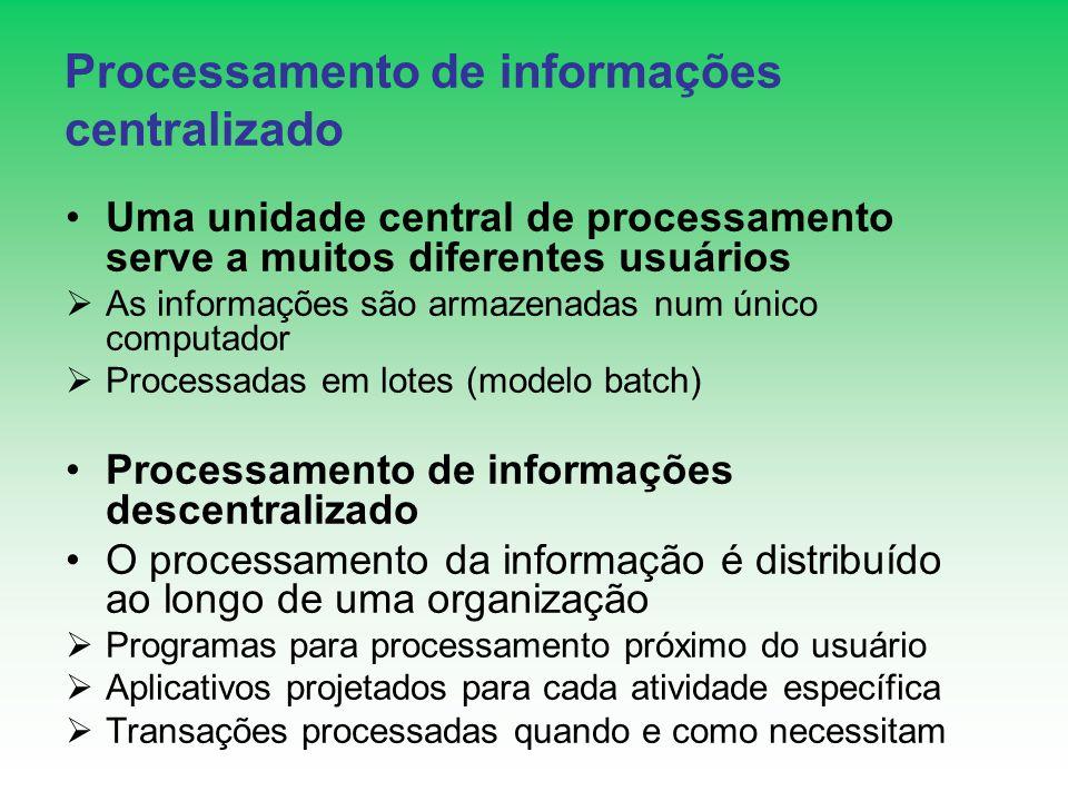 Processamento de informações centralizado