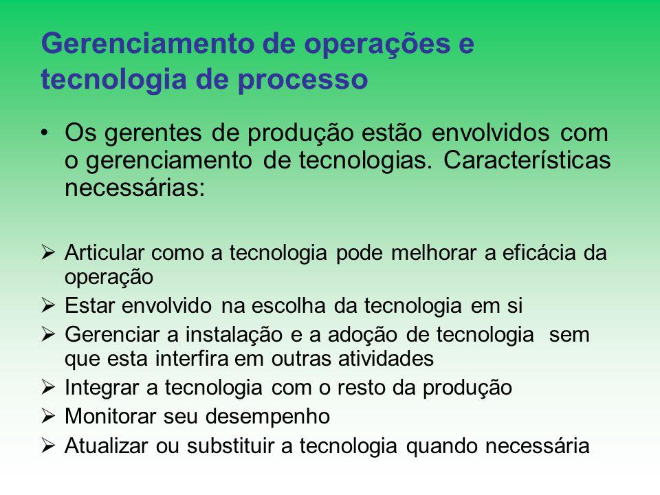 Gerenciamento de operações e tecnologia de processo