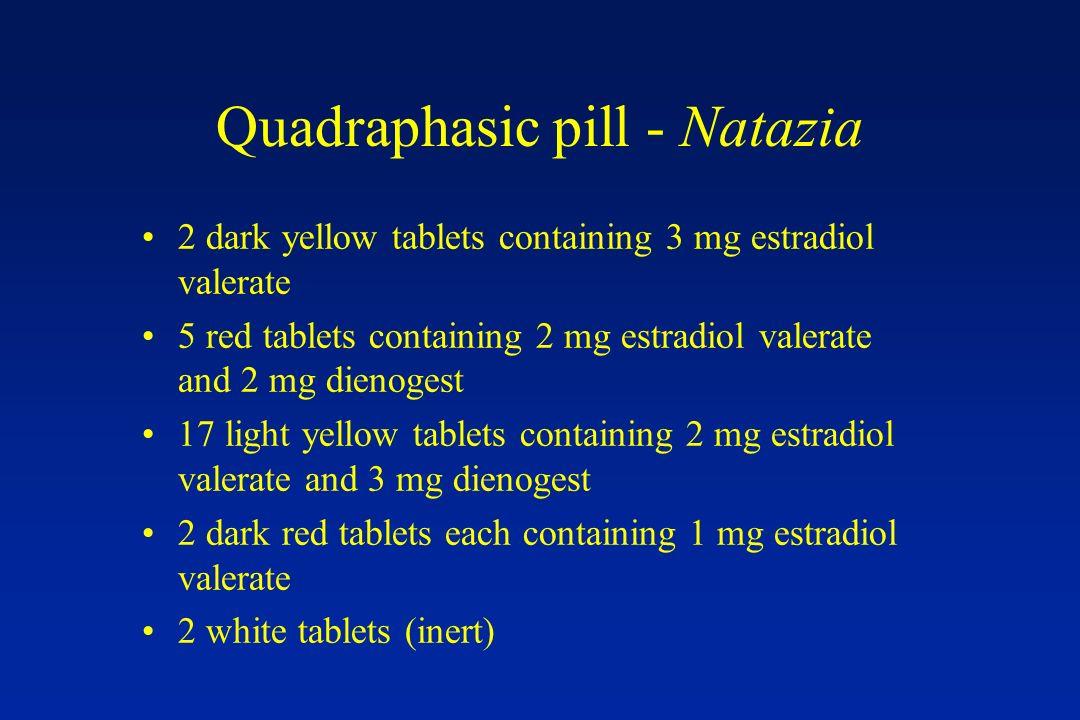 Quadraphasic pill - Natazia
