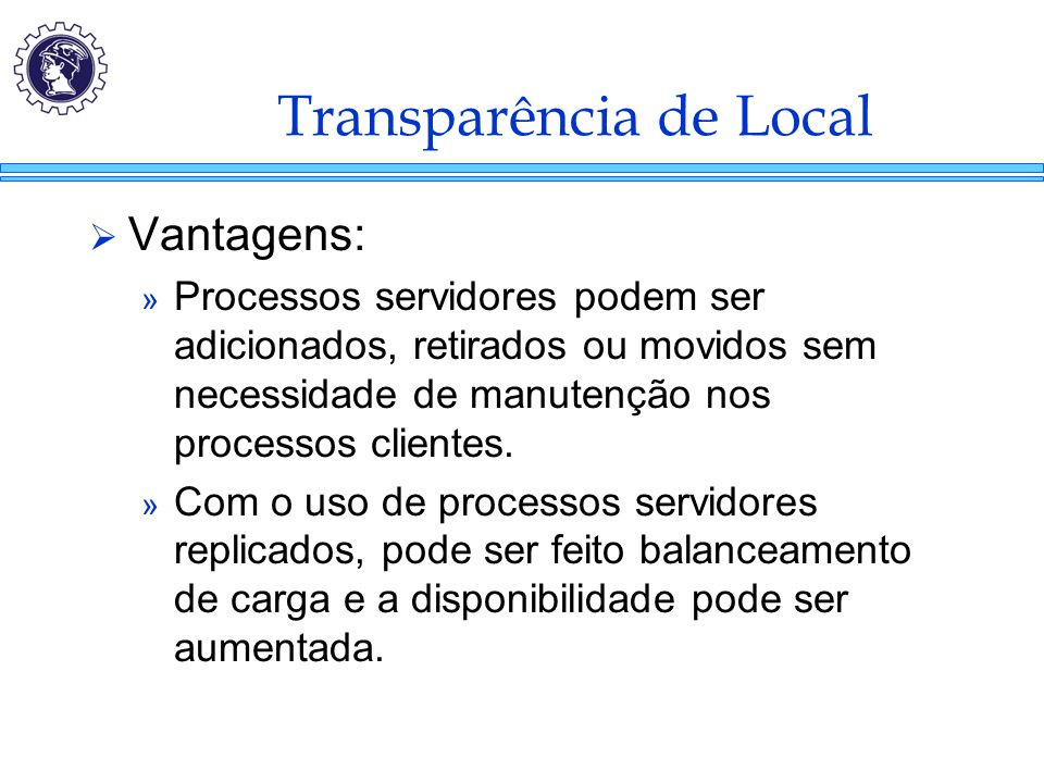 Transparência de Local