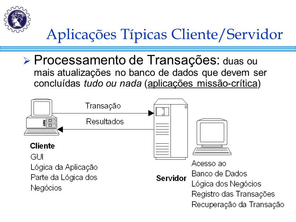 Aplicações Típicas Cliente/Servidor