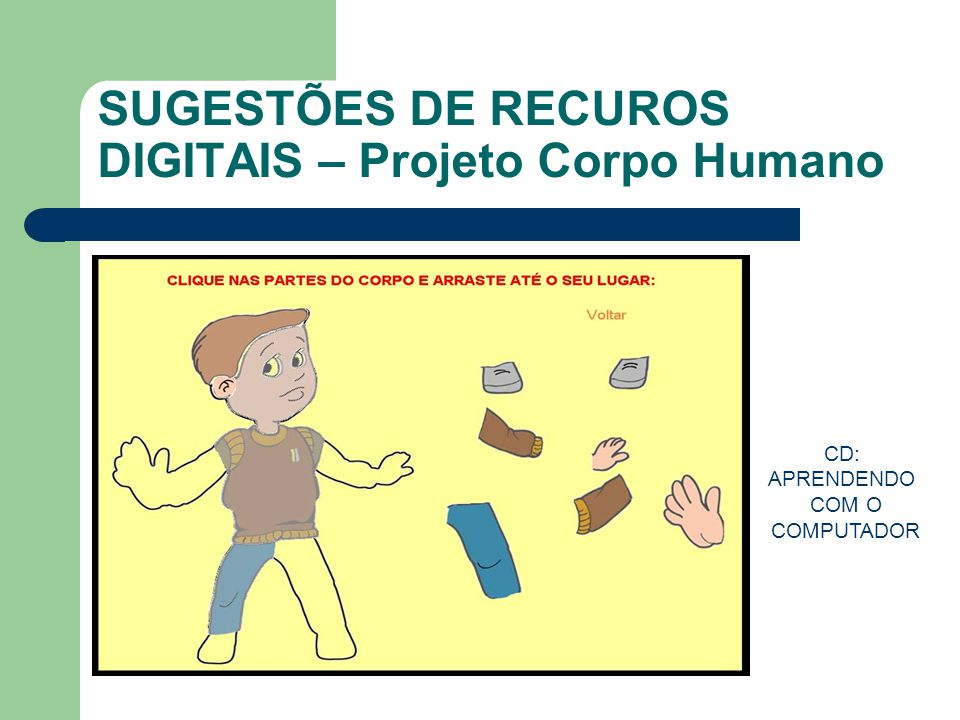SUGESTÕES DE RECUROS DIGITAIS – Projeto Corpo Humano