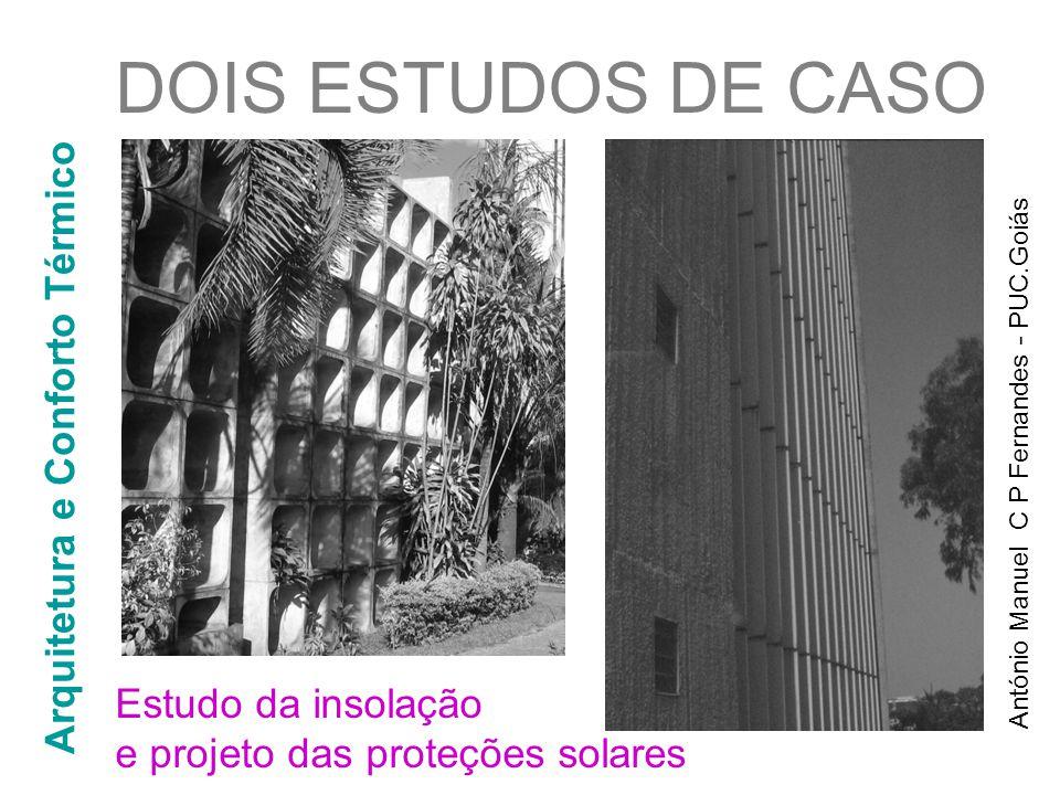 DOIS ESTUDOS DE CASO Arquitetura e Conforto Térmico