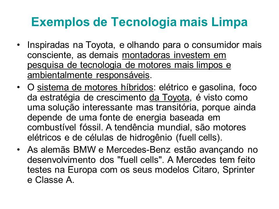 Exemplos de Tecnologia mais Limpa