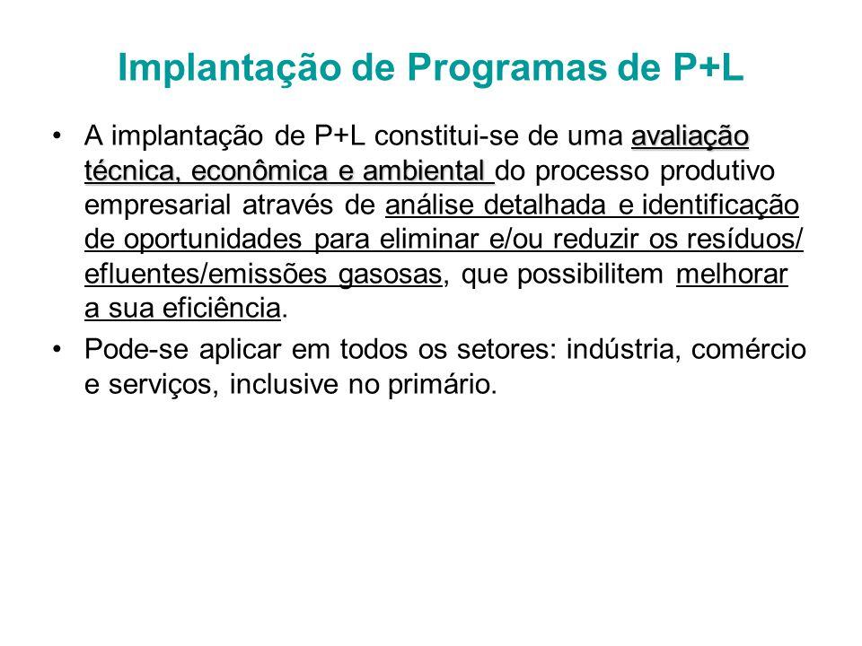 Implantação de Programas de P+L