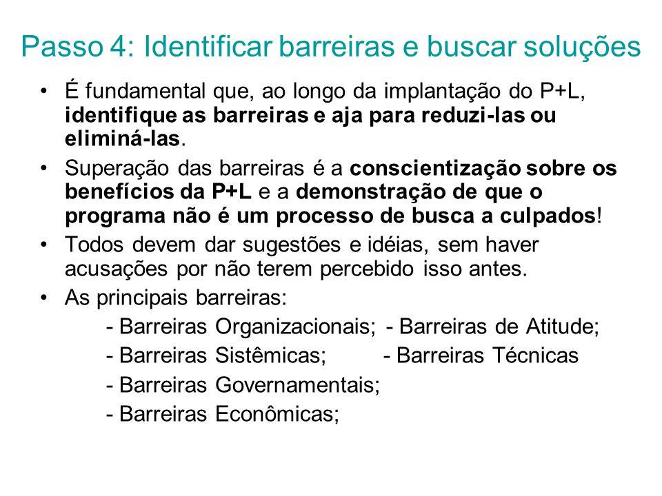 Passo 4: Identificar barreiras e buscar soluções