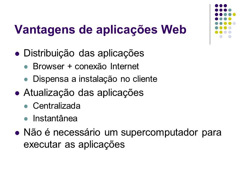 Vantagens de aplicações Web