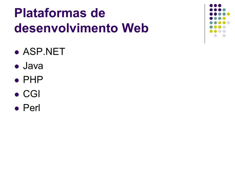Plataformas de desenvolvimento Web