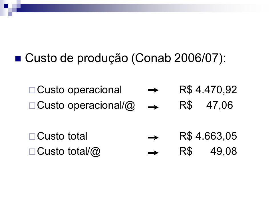 Custo de produção (Conab 2006/07):