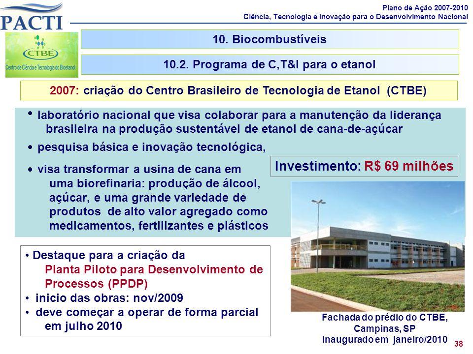 Investimento: R$ 69 milhões