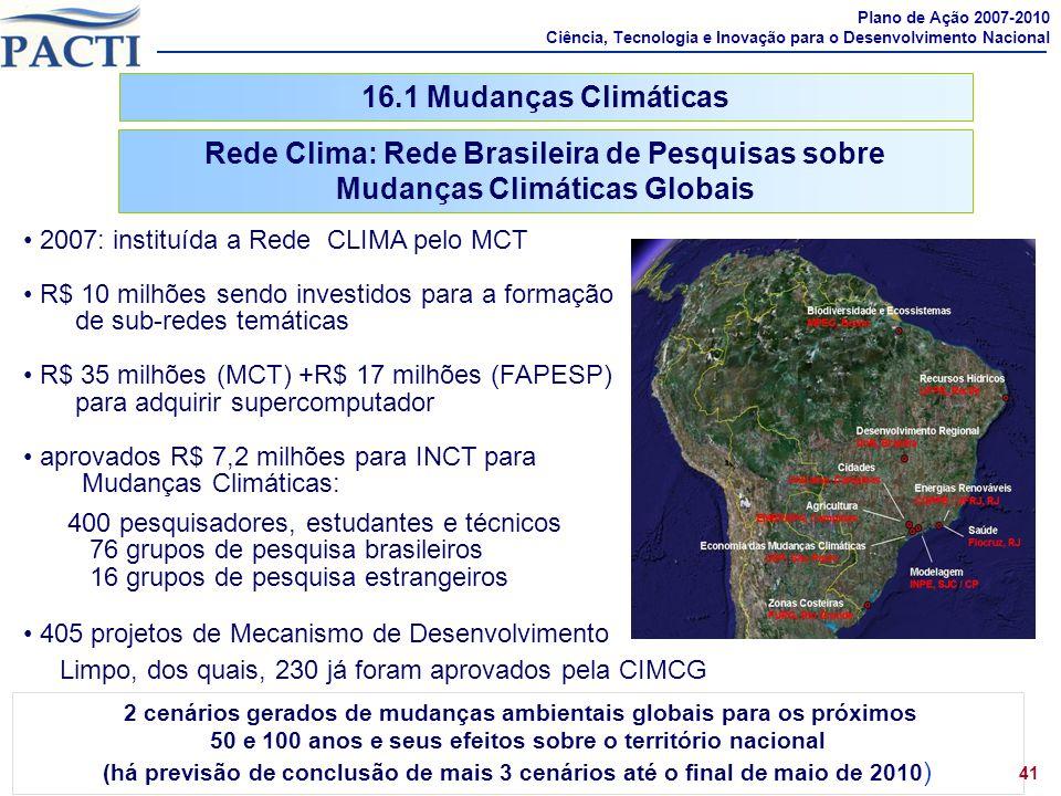 Rede Clima: Rede Brasileira de Pesquisas sobre