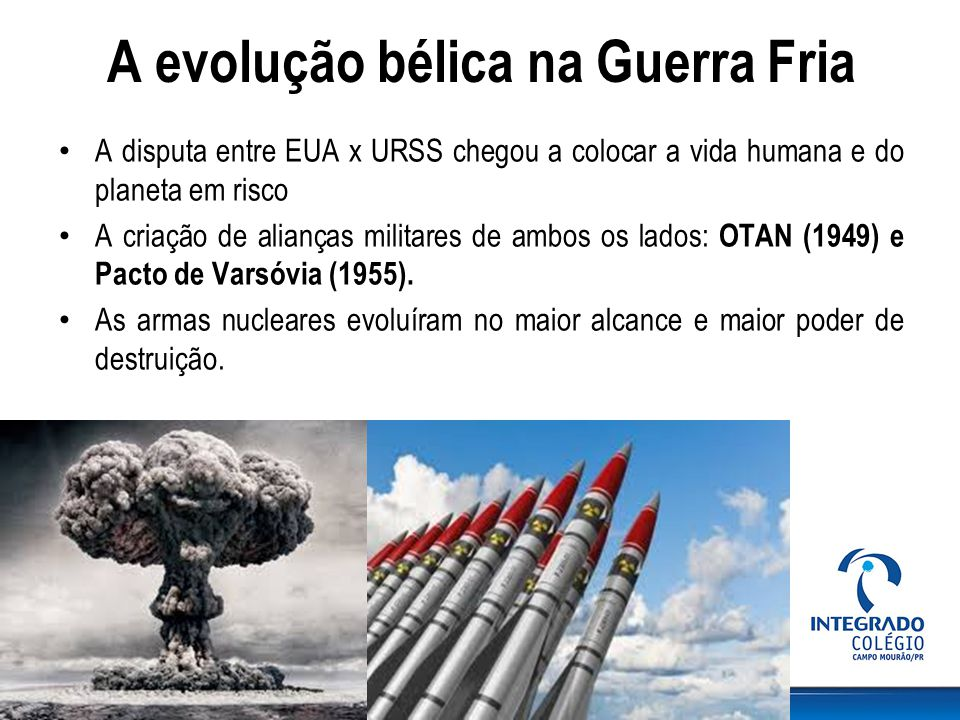 A evolução bélica na Guerra Fria