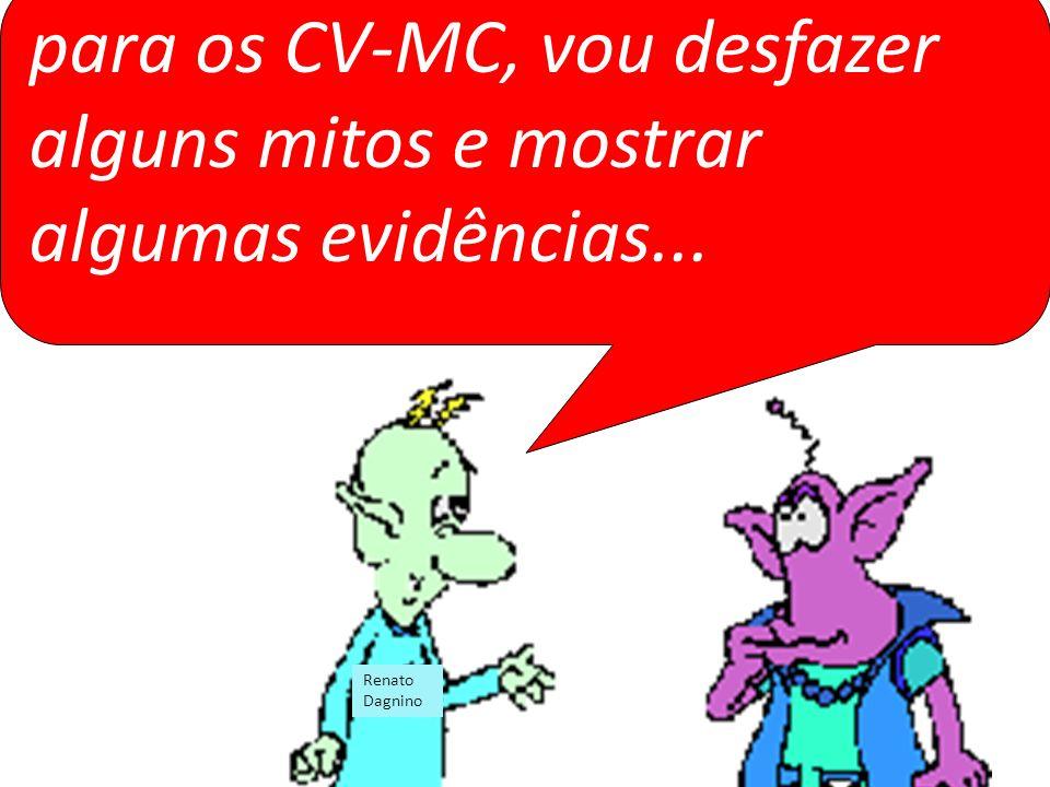 para os CV-MC, vou desfazer alguns mitos e mostrar algumas evidências...