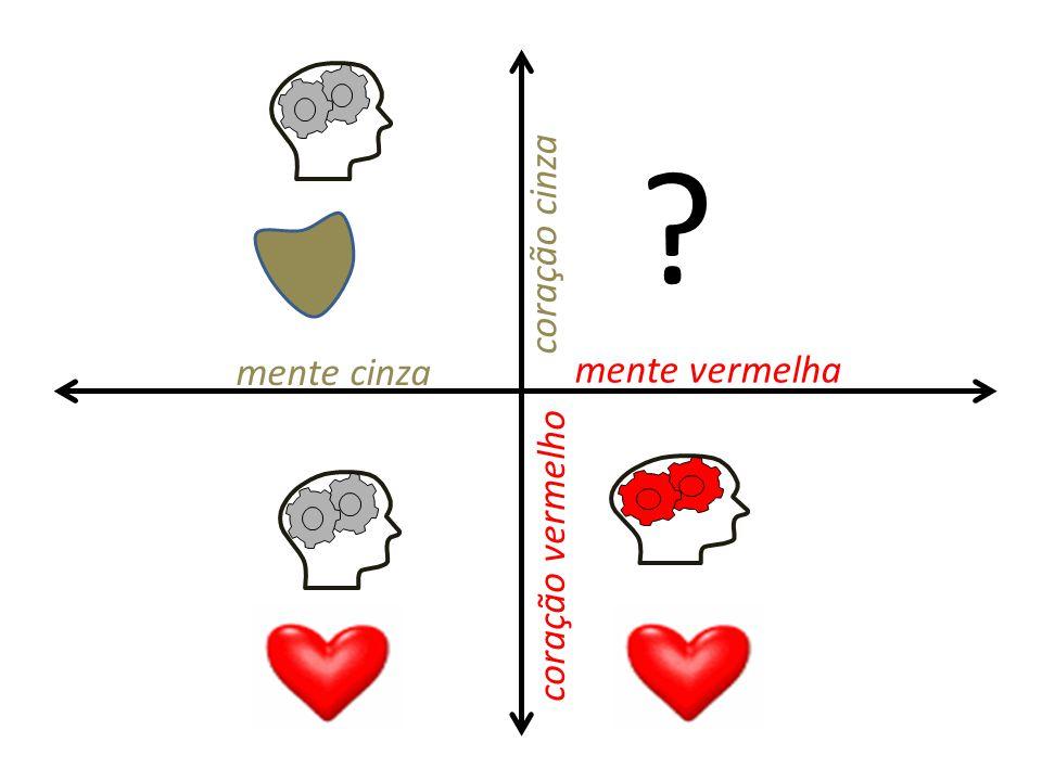 coração cinza mente cinza mente vermelha coração vermelho