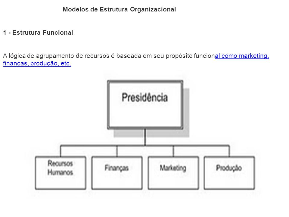 Modelos de Estrutura Organizacional