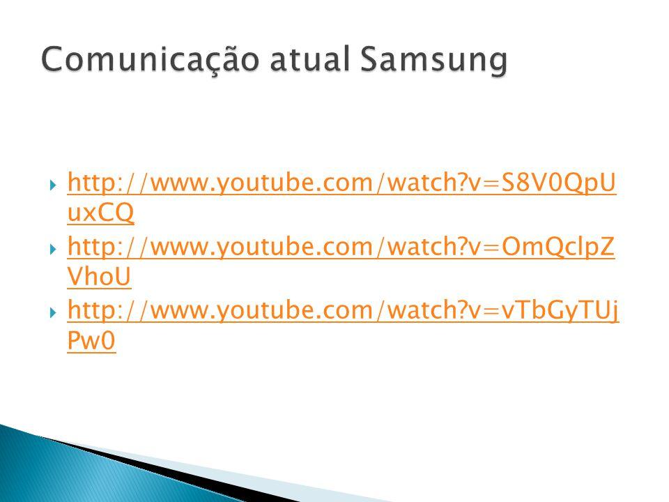 Comunicação atual Samsung