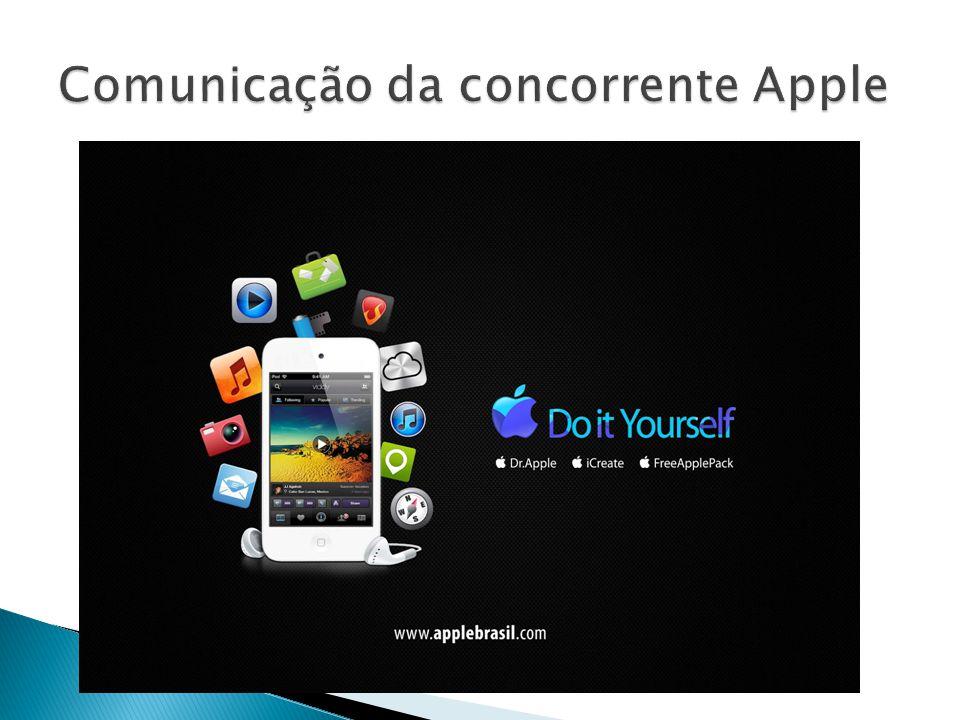 Comunicação da concorrente Apple