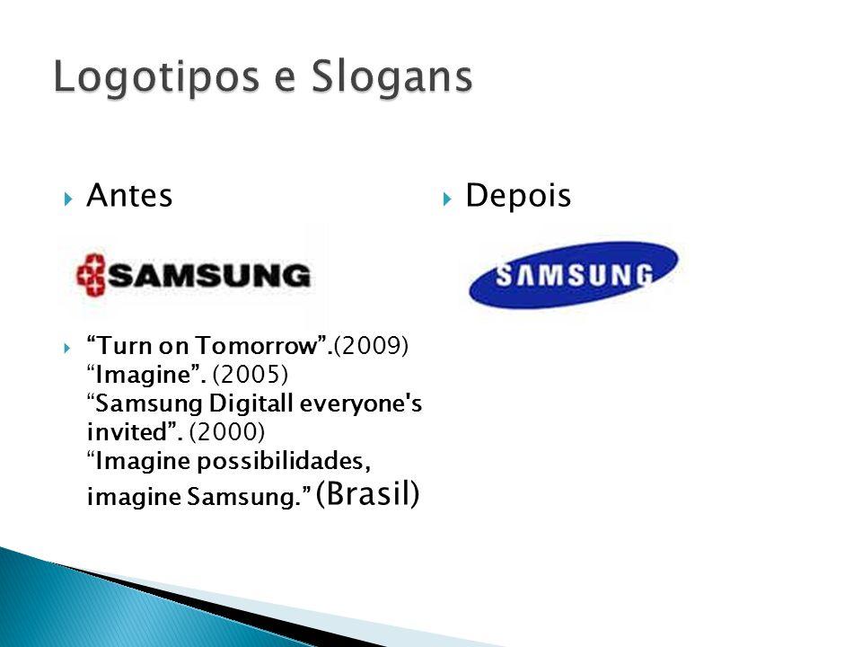 Logotipos e Slogans Antes Depois