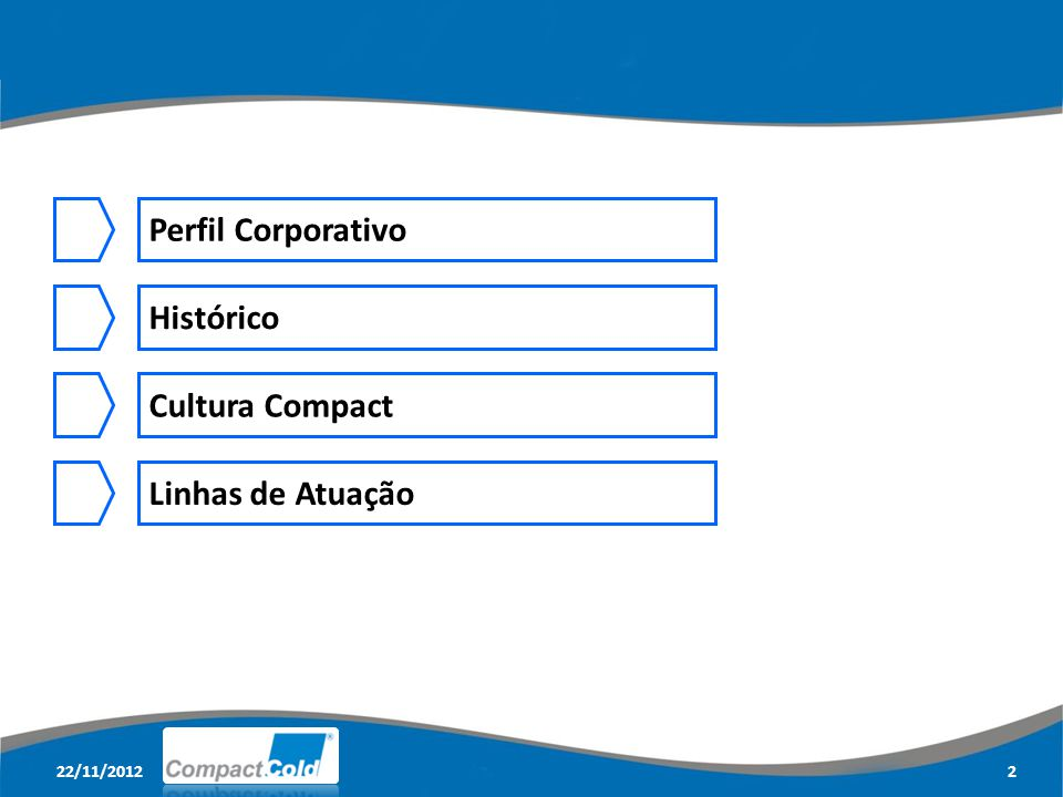 Perfil Corporativo Histórico Cultura Compact Linhas de Atuação