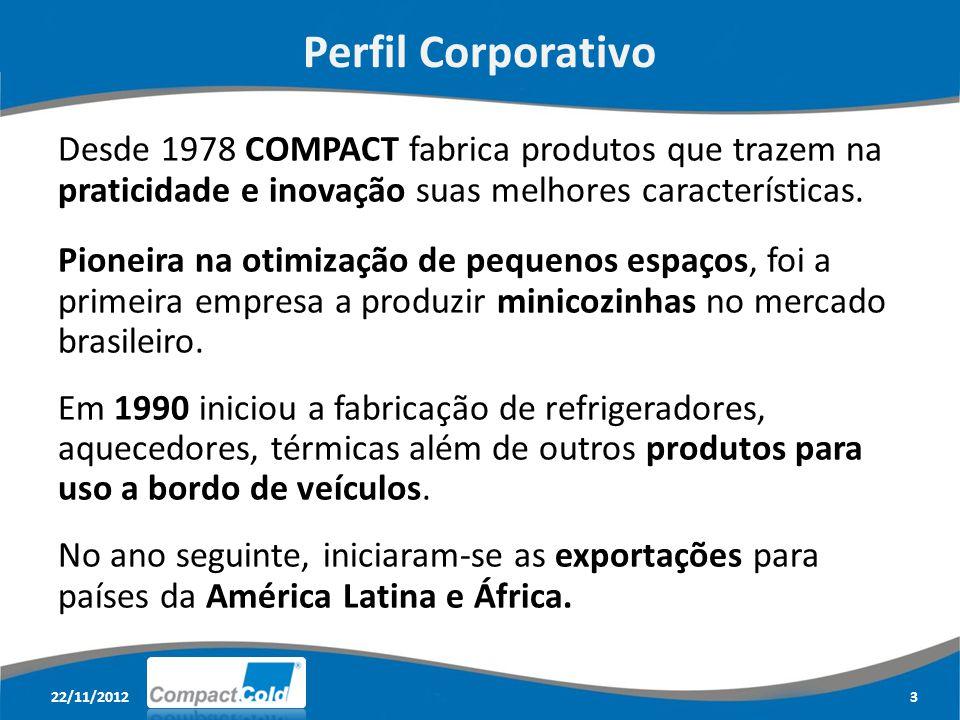 Perfil Corporativo Desde 1978 COMPACT fabrica produtos que trazem na praticidade e inovação suas melhores características.