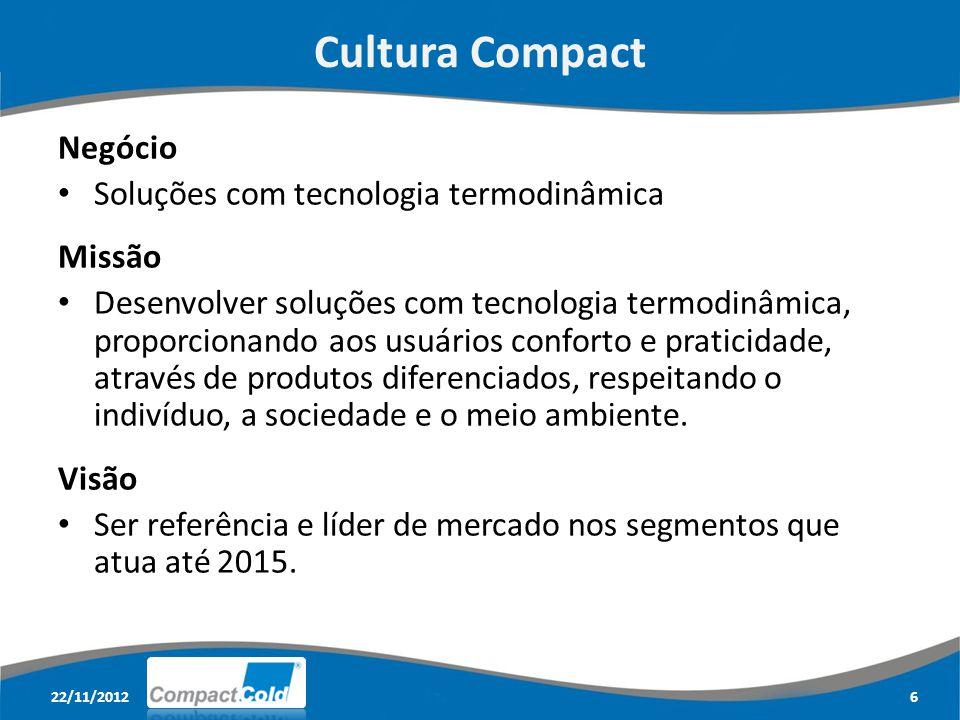 Cultura Compact Negócio Soluções com tecnologia termodinâmica Missão