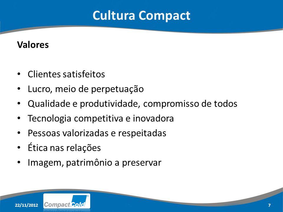 Cultura Compact Valores Clientes satisfeitos