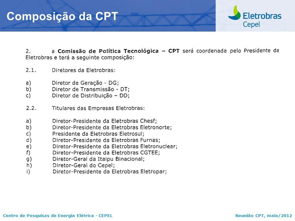 Composição da CPT