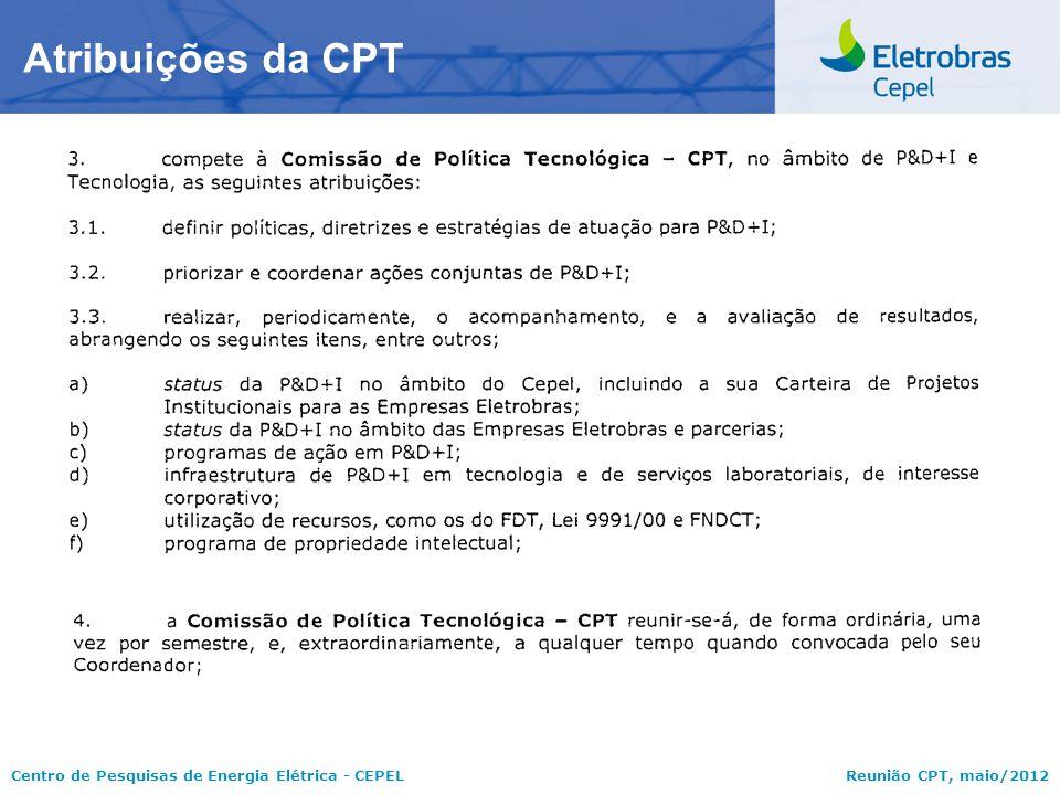 Atribuições da CPT