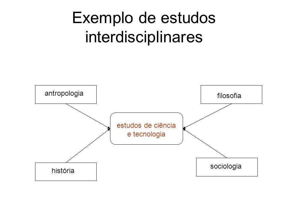 Exemplo de estudos interdisciplinares