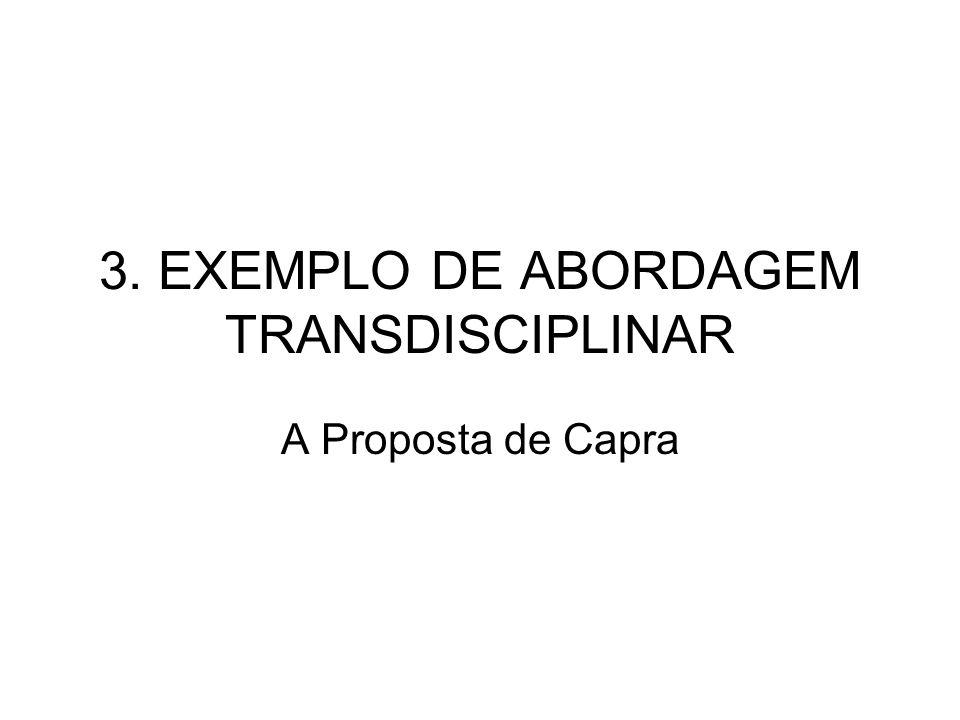 3. EXEMPLO DE ABORDAGEM TRANSDISCIPLINAR