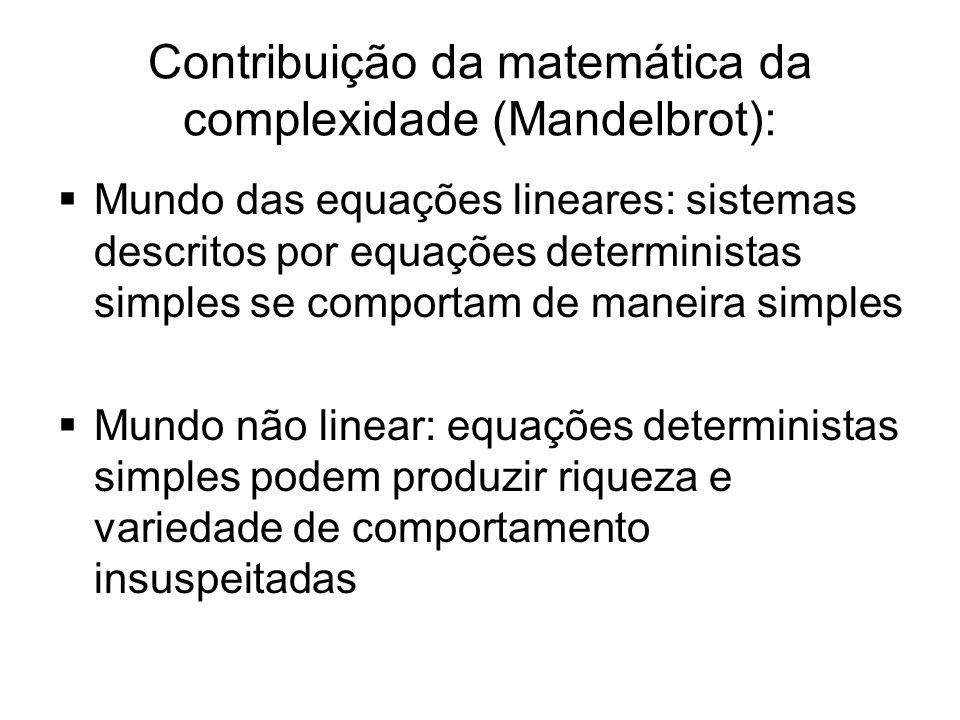 Contribuição da matemática da complexidade (Mandelbrot):