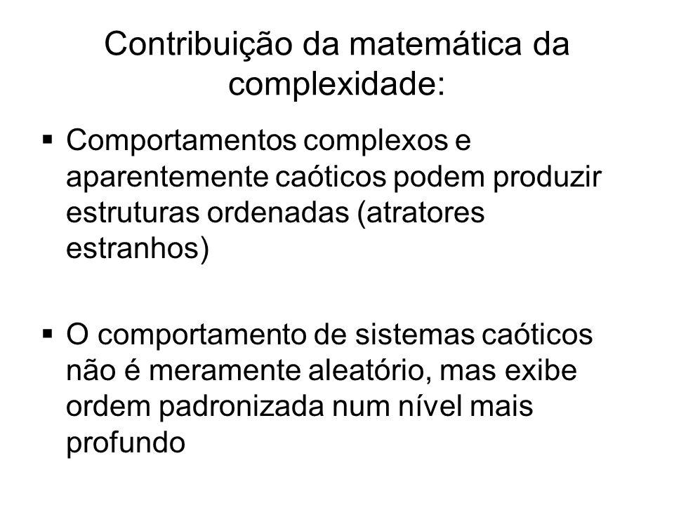 Contribuição da matemática da complexidade: